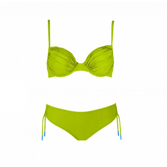 Maryan Mehlhorn Luxury limetkové nevyztužené plavky
