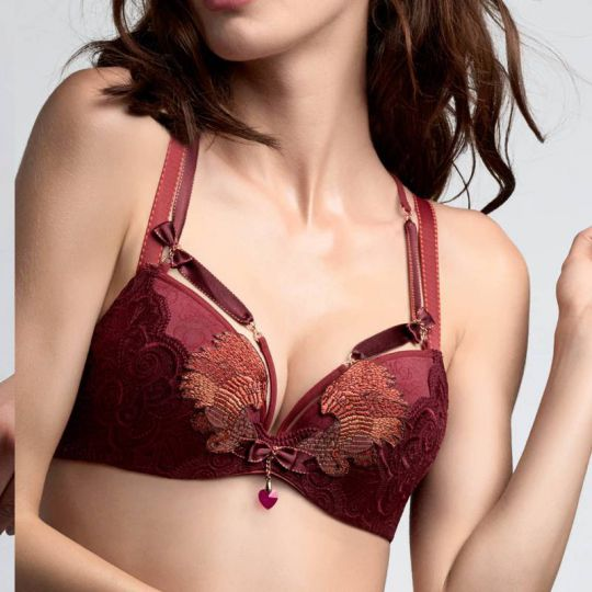 Marlies Dekkers Couture Firebird push up červená podprsenka