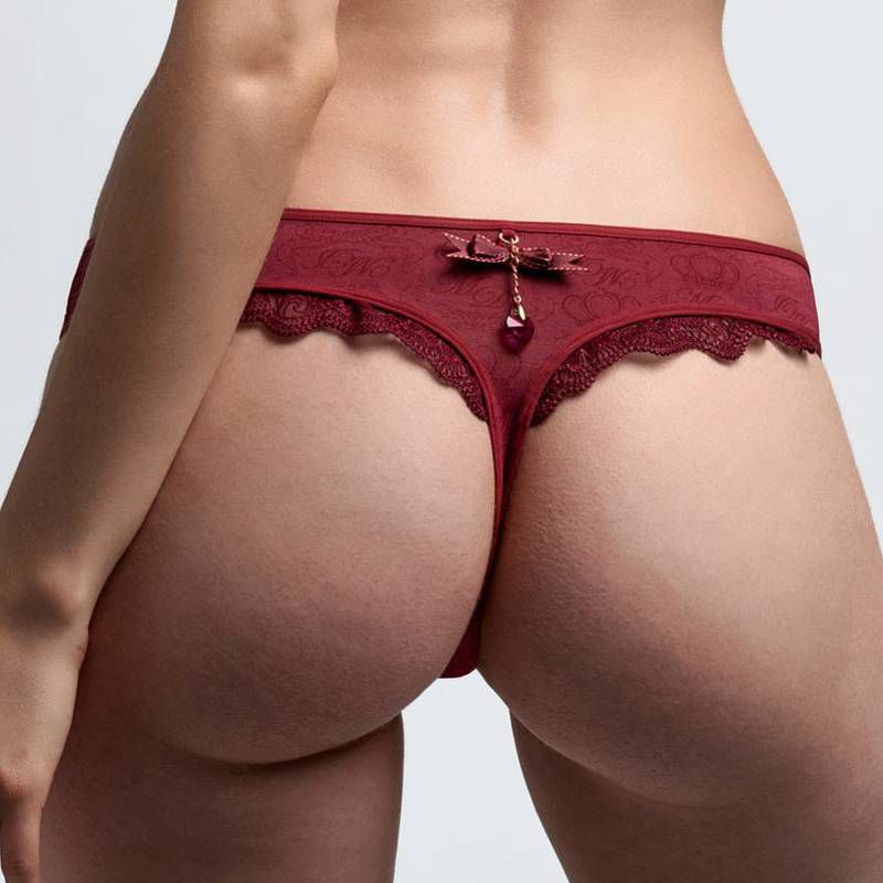 Marlies Dekkers Couture Firebird dámská červená tanga