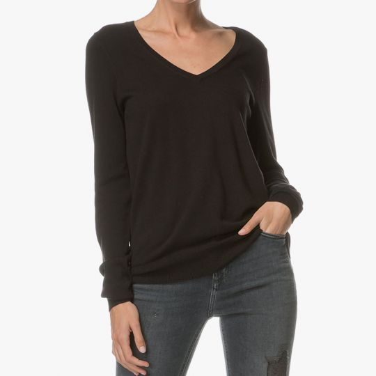 Repeat Easy Knit černý bavlněný svetr