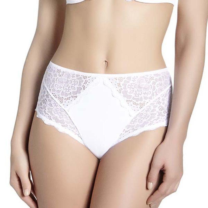 Simone Perele Caresse bílé vysoké kalhotky